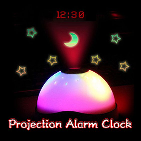 LED Color Changing Projection Alarm Clock Night Light – Way Kool Stuff