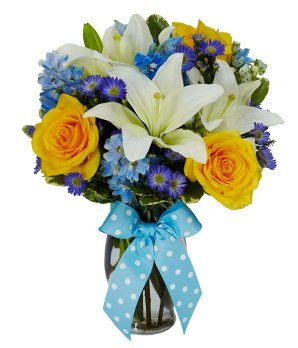 Baby Boy Bouquet - Flowers: