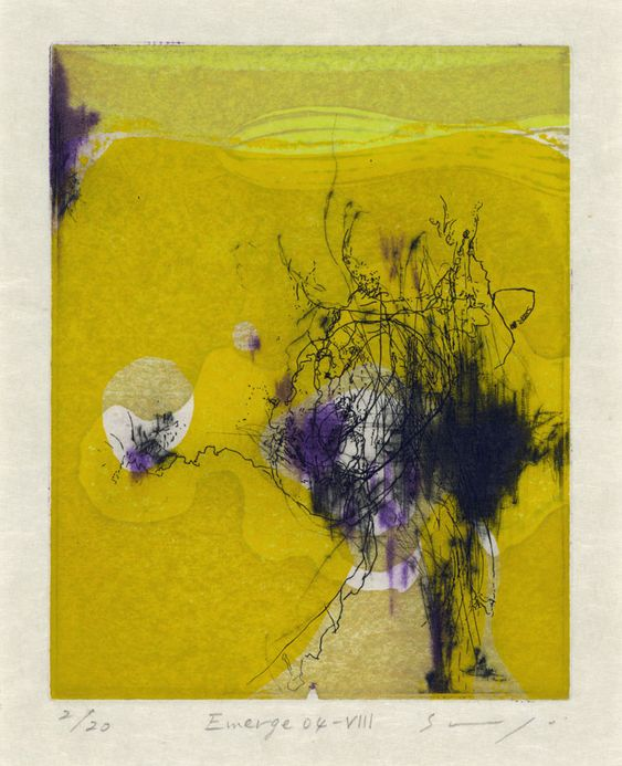 TITLEEmerge 04-VII  ARTISTShogo Muto  YEAR2004  PROCESSEtching/drypoint/woodcut  SIZE15x12cm