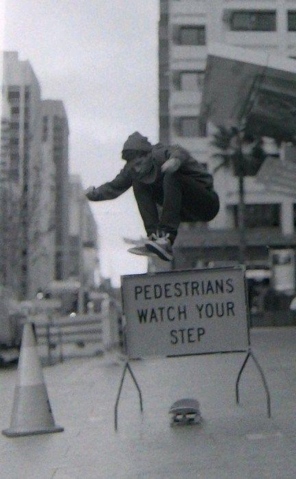 R street photography, black & white skateboard, trick, skateboarding, jump, sign, funny, cool
