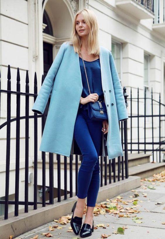Голубое пальто 2017 (48 фото): нежно-голубое, ярко-голубое, небесное, светло-голубое, луки