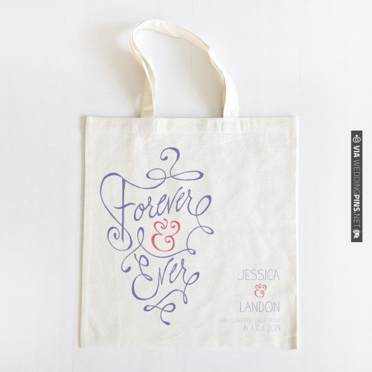 forever and ever tote $10 | CHECK OUT MORE IDEAS AT WEDDINGPINS.NET | #weddings #weddinggear #weddingshopping #shopping
