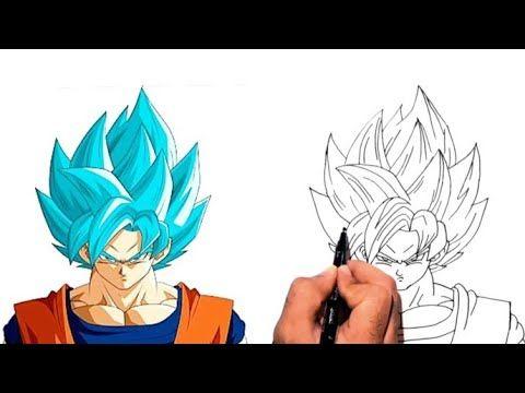 Drewing Goku Super Saiyan Blue Anime Dragon Ball رسم غوكو سوبر ساين الازرق خطوة بخطوة رسم انمى Youtube In 2021 Drawing Tutorial Drawings Dragon Ball