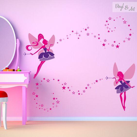 Y para las pequeñas princesitas también! #vinilos #adhesivos #decorativos #vinylandart #arte #inspiracion #diseño #infantil #hadas. Éste diseño y muchos más los podrás encontrar en nuestra tienda online muy pronto www.vinylandart.com
