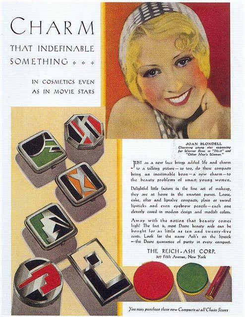 Art Deco compacts magazine advertisement