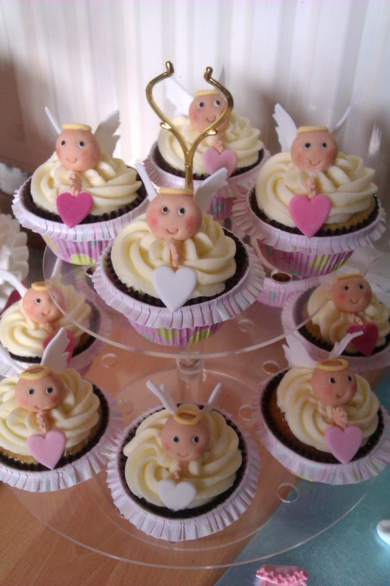 angel cupcakes cupcakes pinterest themed baby showers baby