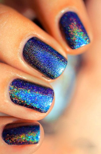 #iridescent #nails #nailart  Wish I knew where to get this polish. It looks awesome!