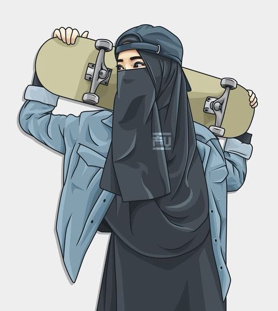 Terbaru Wallpaper Gambar Kartun Muslimah Couple Romantis Terpisah Tahun Ini