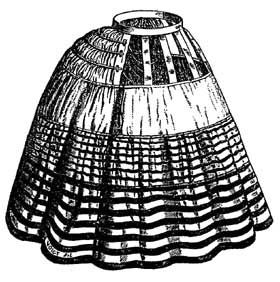 Balmoral hoop skirt: