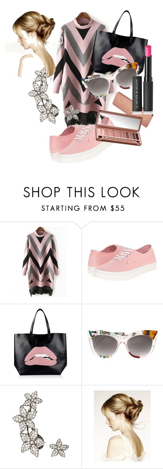 """Untitled #128"" by mikicaajla ❤ liked on Polyvore featuring Vans, RED Valentino, Fendi, Urban Decay and Le Métier de Beauté"