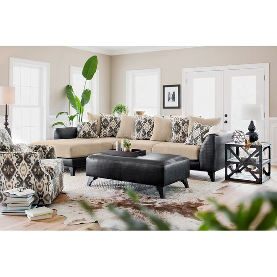 Gotham 2 Pc. Sectional (Reverse) | Value City Furniture | Living Room  Furniture Ideas | Pinterest | Gotham, City Furniture And Living Room Seating