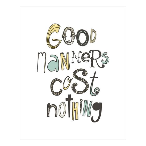 Good Manners Print / Logophilia