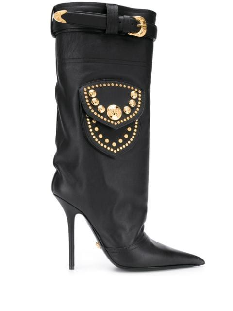Versace Vadhöga Stövlar Farfetch i 2020 | Boots