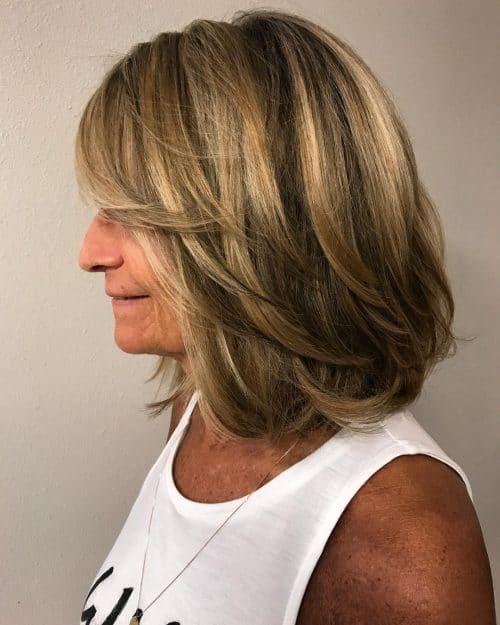 Shoulder Length Layered Bob For Older Women Layered Bob Haircuts Bob Hairstyles Layered Bob Hairstyles