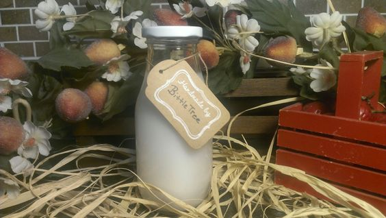 Miniature Milk Bottle Candle - 8 oz Jar with Your Choice of Scent by BittleTree on Etsy