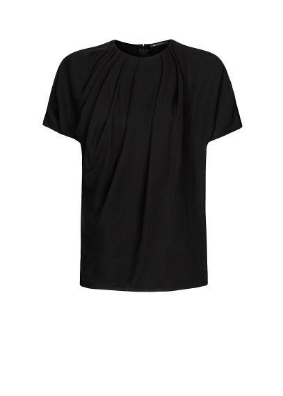 MANGO - Camiseta pliegues. Mama