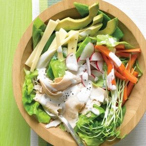 Chef's Salad with Turkey, Avocado, and Jack Cheese