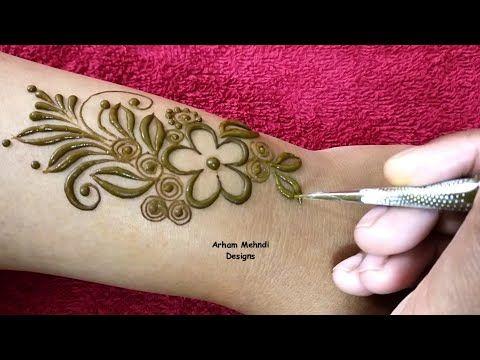 Latest Easy And Stylish Mehndi Design For Back Hand Arham Mehndi Designs Youtube Latest Mehndi Designs Unique Mehndi Designs Stylish Mehndi Designs