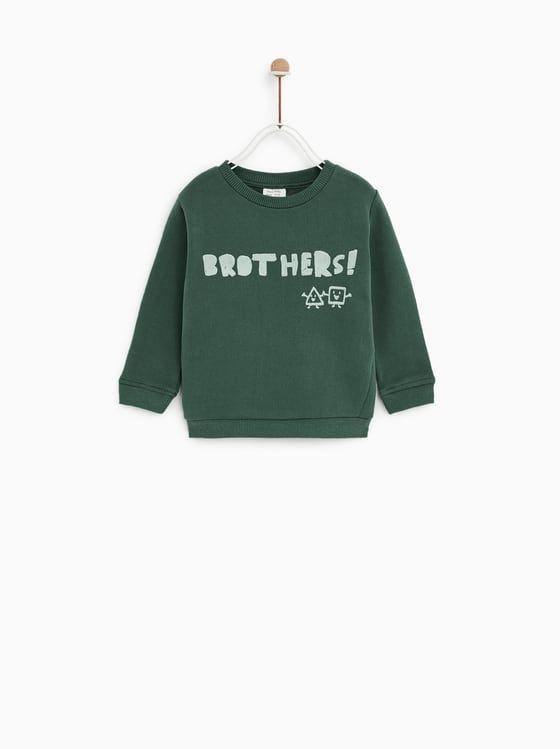 SUDADERA MANGA CORTA LAVADA | Sweatshirt, Zara, Kind mode