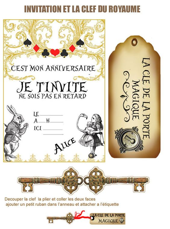 Patterns alice in wonderland theme and chang 39 e 3 on pinterest - Theme alice au pays des merveilles decoration ...