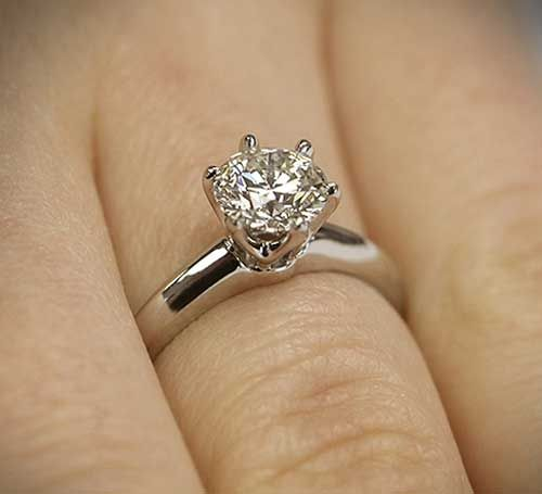 The Clic Tiffany Style Six G Diamond Solitaire Engagement Ring By Vatche For Whiteflash