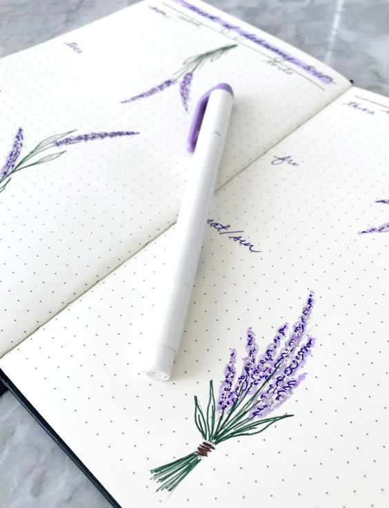 Minimalistic yet so beautiful journal drawing by insta @victoriaaveyard.