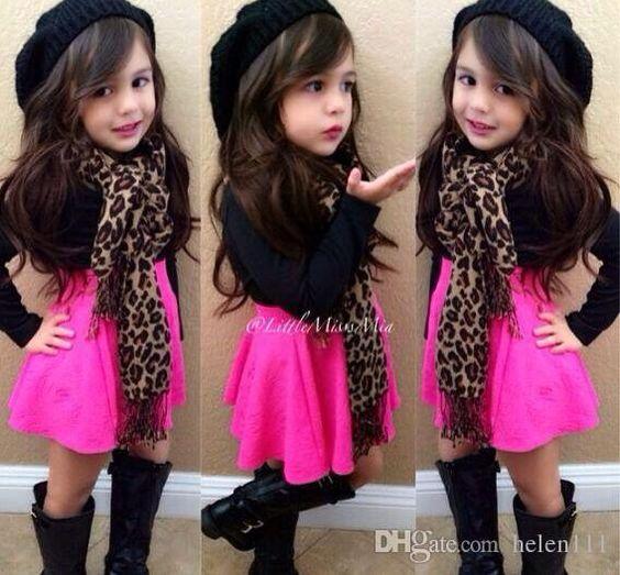 2015 Spring Little Girls Tutu Skirt Set New Arrival Fashion Black ...