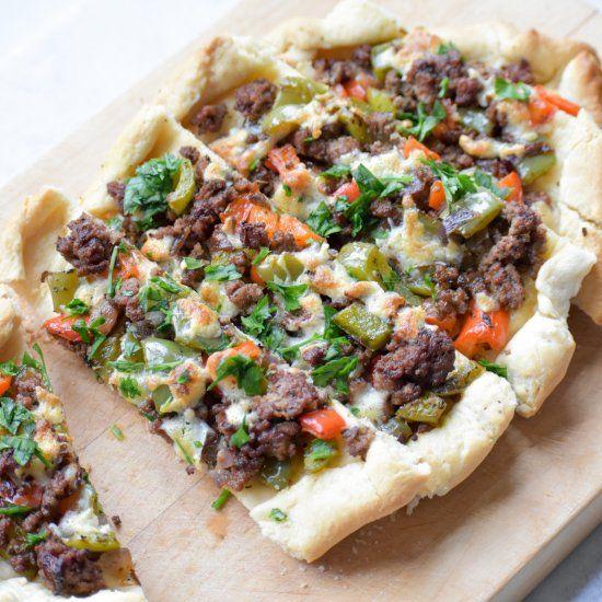 Pide Turkish Flatbread Foodgawker Flatbread Beef Recipes Feta Pizza