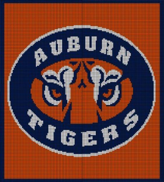 Auburn Tigers Crochet Pattern Afghan Graph, USD3.5 Crochet ...