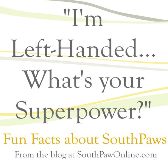 im proud to be lefthanded I'm a left handed mum with 2 children and one is left handed and one is right handed personally i find this article really rather condescending and rather typical of how the 'right hand world' treat left handed people.