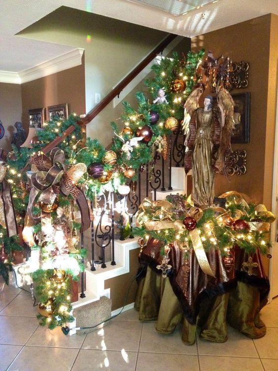 Staircase Christmas Garland Christmas Tree Decorations