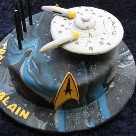 Out of This World Star Trek Cake