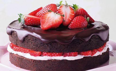 Imagen de strawberry, cake, and chocolate