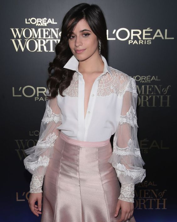 Camila at the Women of Worth event, July 2018