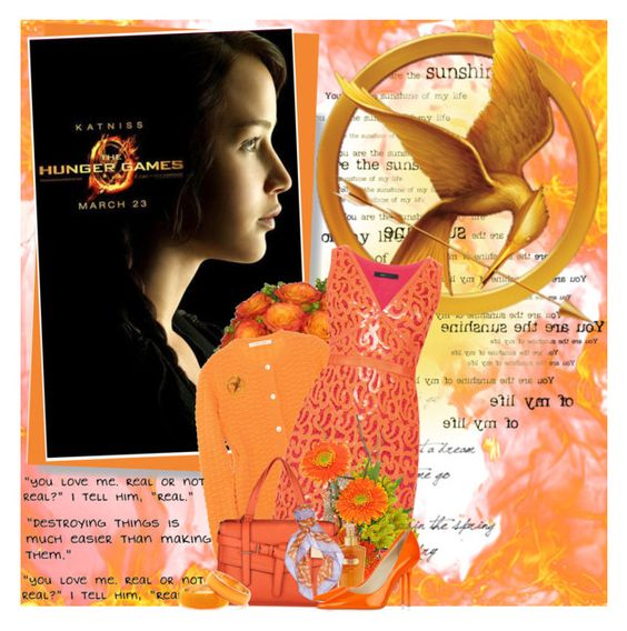 """Katniss ....."" by purplecherryblossom ❤ liked on Polyvore featuring moda, Disney, Marc Jacobs, BCBGMAXAZRIA, Reed Krakoff, Victoria's Secret, Ralph Lauren Collection, Jimmy Choo i Dries Van Noten"