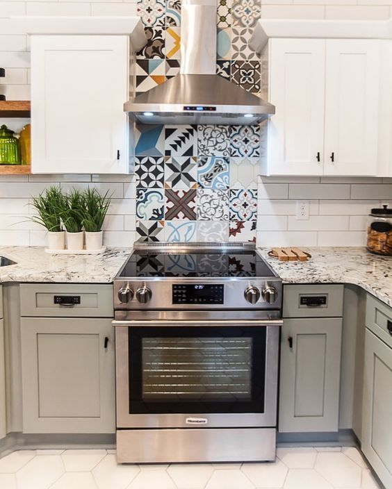 Pin By Ariele Rodriguez On Tile Transitions Patchwork Tiles Kitchen Kitchen Tiles Kitchen Remodel