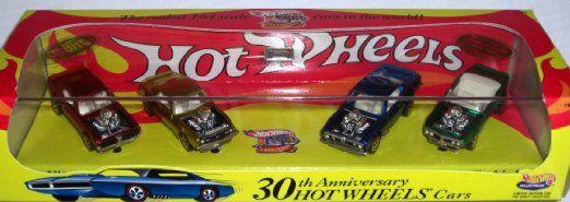 Hot Wheels Collectibles 30th Anniversary 4 Car Boxed Edition Set