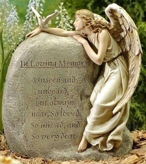 In Loving Memory Guardian Angel Memorial Garden Stone Friendship Mom And Wings