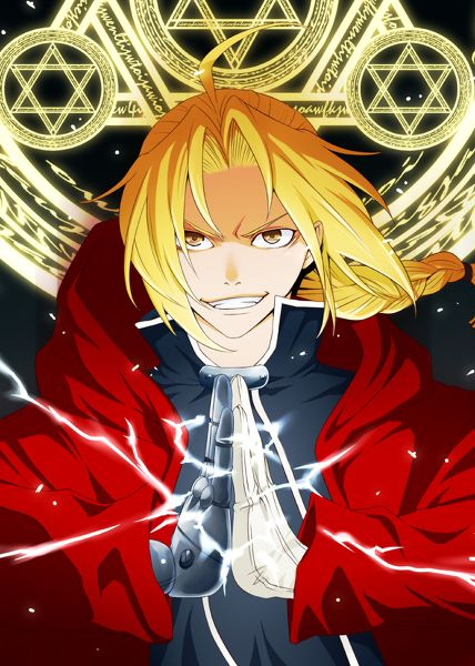 fullmetal alchemist Edward Elrich (reminds me of Deidara with the hair and the smile/smirk yes I have a crush on Deidara get off my back!)