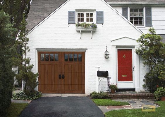 Need a craftsman style garage door craftsman house for Craftsman style garage