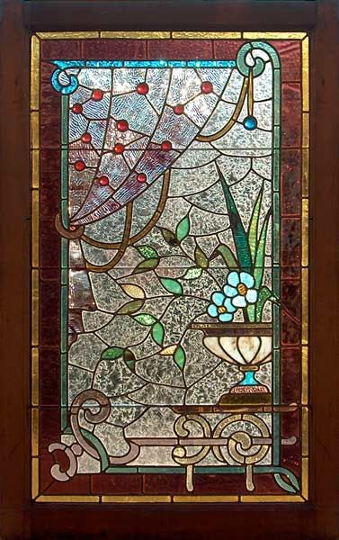 Victorian stained glass window floreros Pinterest Bathroom - Windows Fences