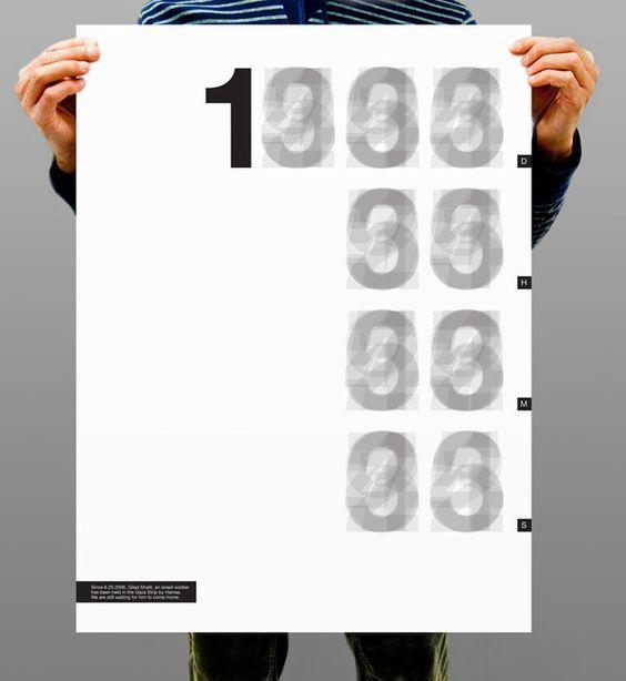 Gilad Shalit Project By Moshik Nadav by Moshik Nadav Typography, via Behance