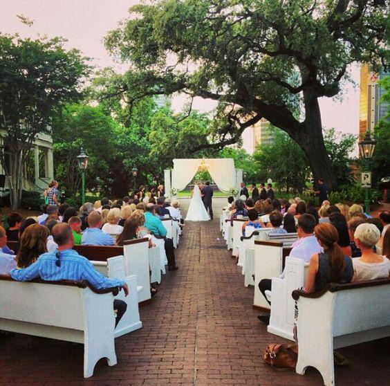 Brick street wedding in Mobile, Al.