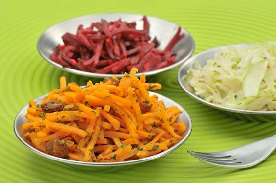 Ensalada de zanahoria y pasas sultanas