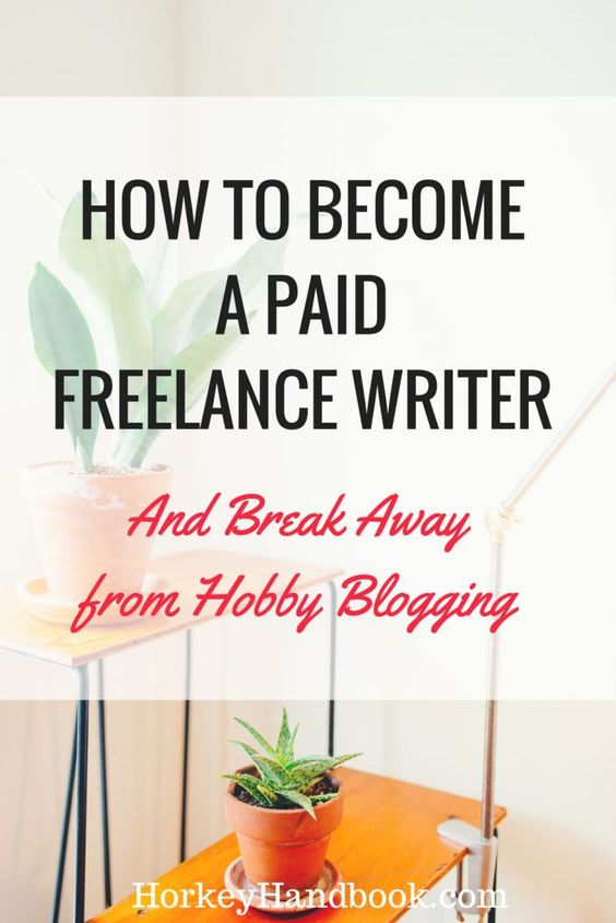 How to become a paid writer