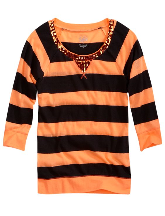 Striped Sequin Top | Long Sleeve | Tops & Tees | Shop Justice