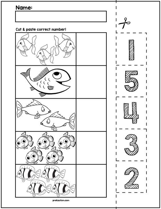1 Teach Counting Skills With Fish Great For Teaching 1 1 Counting Skills And Numbe Preschool Math Worksheets Kindergarten Math Worksheets Numbers Preschool