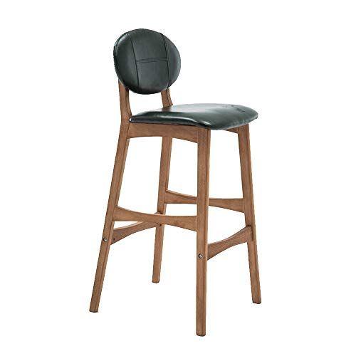 Solid Wood Bar Stools Creative Bar Chair Back Bar Stool Modern