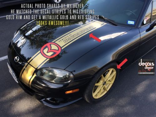 Details about Racing Stripes for Mazda 3 4 6 Protege Miata