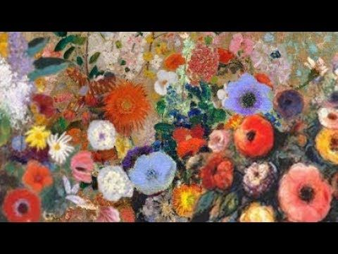Abstract Flower Garden Live Acrylic Painting Tutorial